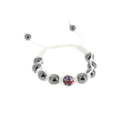 Bracelet shamballa Drapeau Anglais Blanc - 2531-36336