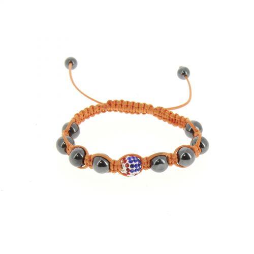 Bracelet shamballa Drapeau Americain Orange - 2546-36342