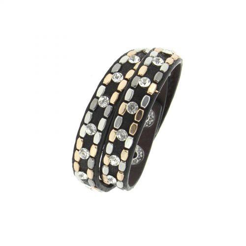 Studded rhinestone wrap bracelet Naika