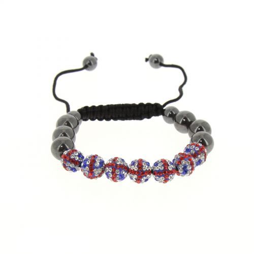 English Flag Shamballa Bracelet, YSIA