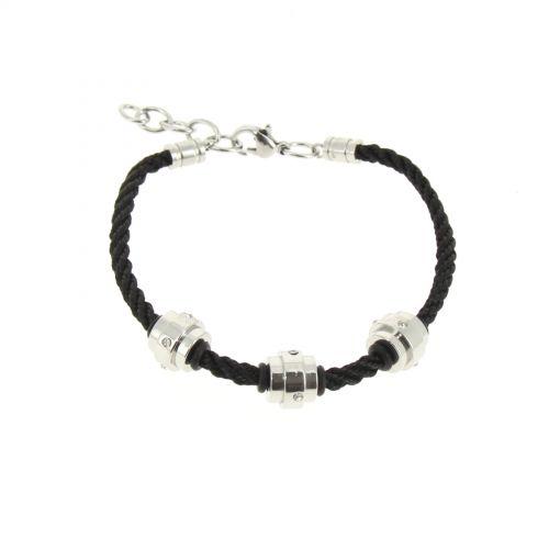 Bracelet cordons Strass en acier, DJEYNABA