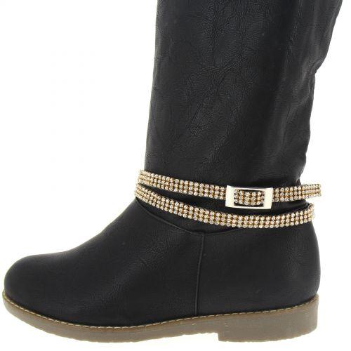 Tanina pair of boot's jewel Black (Golden, White)) - 9632-37082