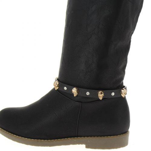 1 x Jewel boots ,5724 Black-Gold