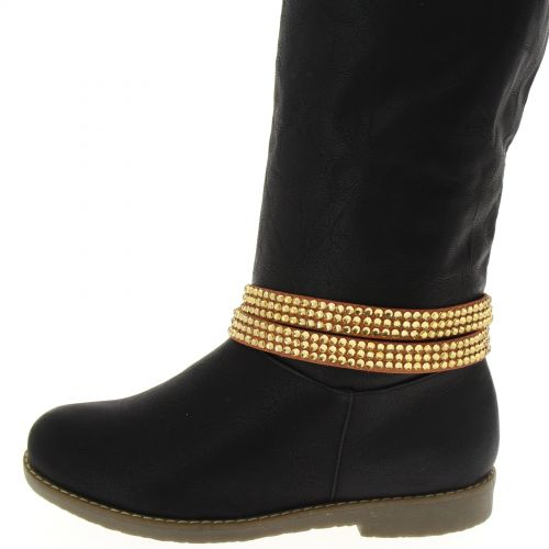 1 x Jewel boots 2 tours strass Grey
