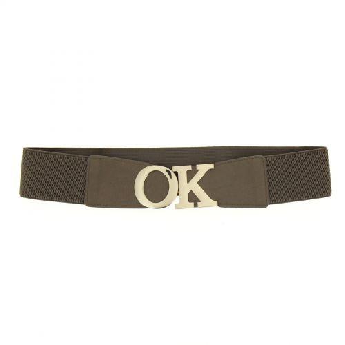 OK Buckle, elasticated waist Woman belt