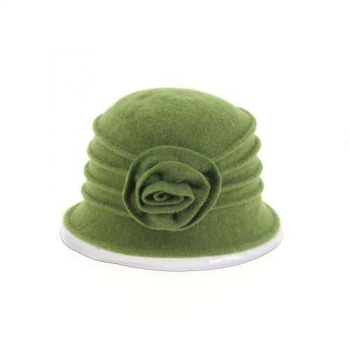 Chapeau Laine fleur BESSIE Vert - 10224-37587