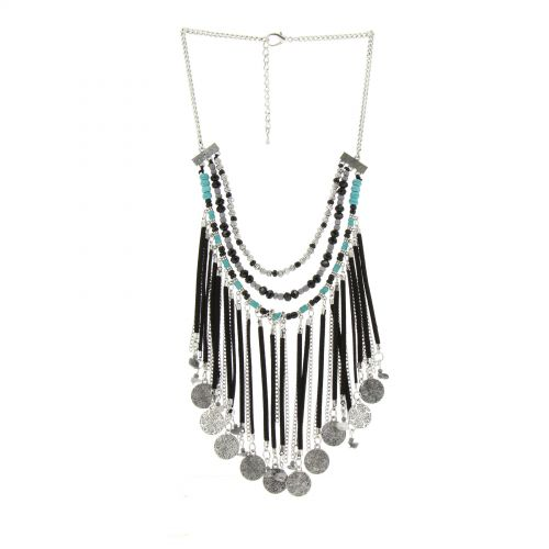 JELENA fancy necklace Black - 10275-37904
