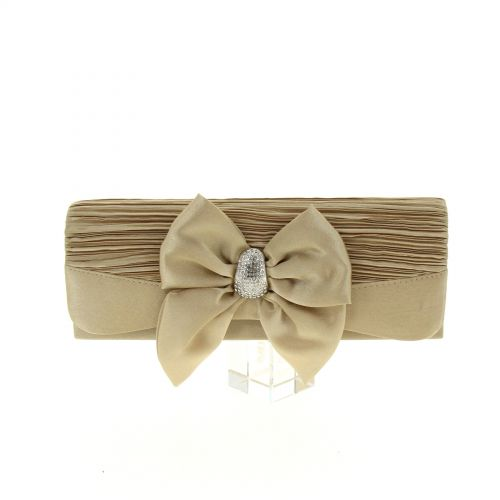 OMBELINE satin evening bag