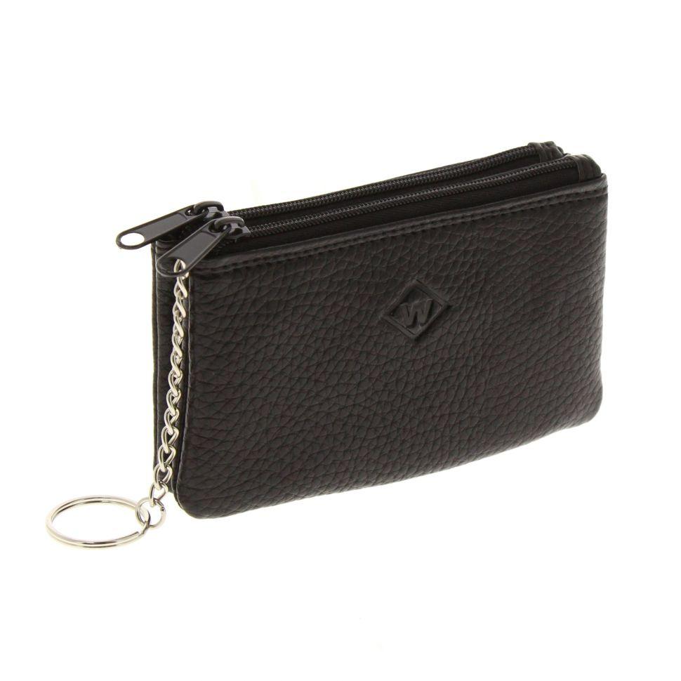taille 40 fe562 f2491 Porte-monnaie en cuir à double compartiment à zip, pour homme et femme