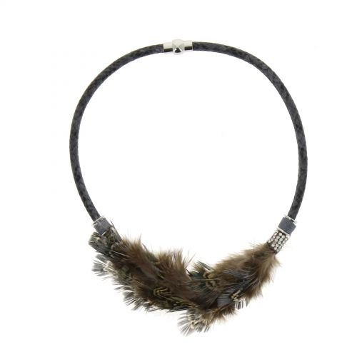 LISBET feather necklace