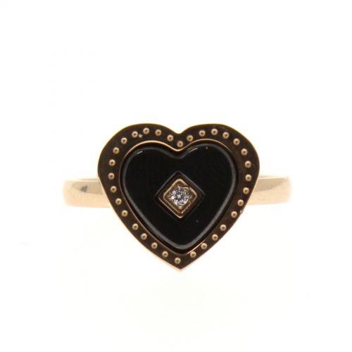 Ceramic ring, Gold ZERDA