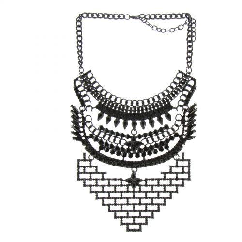 Collier femme, Coeur en strass, XS-2259 Negro - 10566-40226