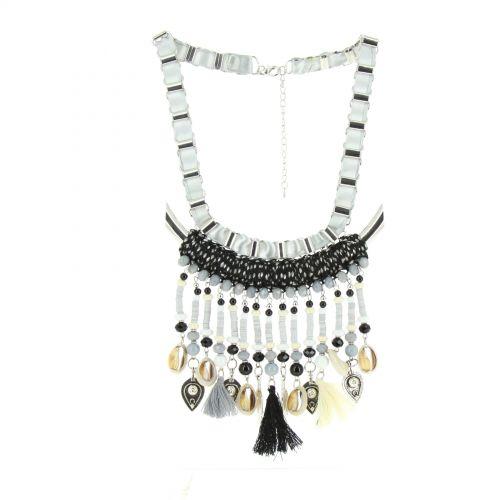 Collier pendantes Nadja Noir - 10602-40488