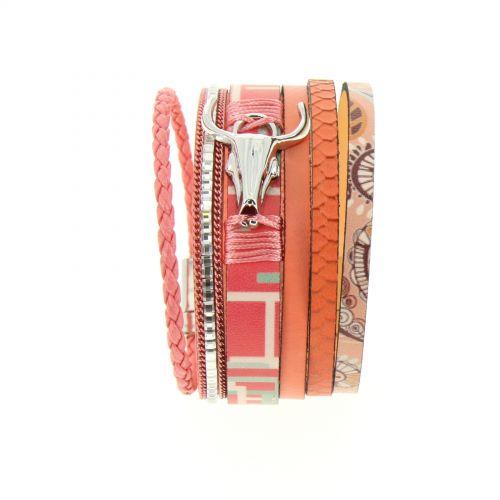 Bracelet manchette tête de taureau Judit