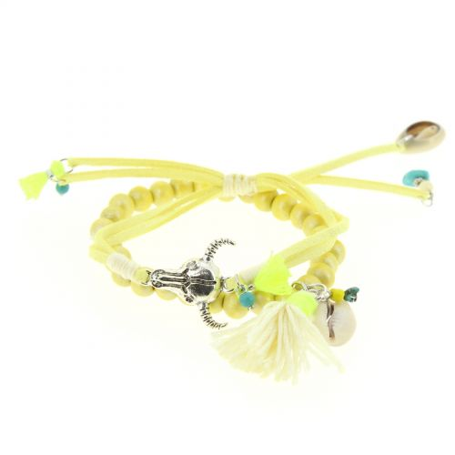 bracelet extensible Karin Jaune - 10628-40622