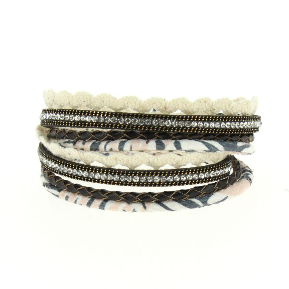 Bracelet à enrouler Jannike Noir - 10667-40785