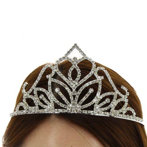 Serre-tête couronne Vanja Argenté (Blanc) - 10676-40895