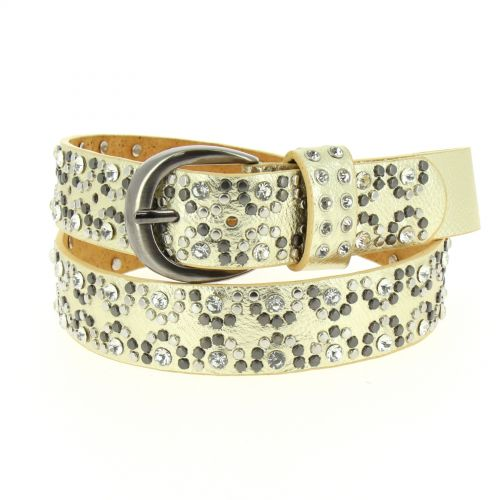 LAILA studded leather belt
