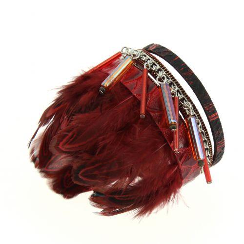 Bracelet manchette plumes Milana