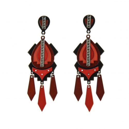 Boucles d'oreilles acrylique Sheina