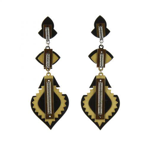 Tirasia acrylic earrings