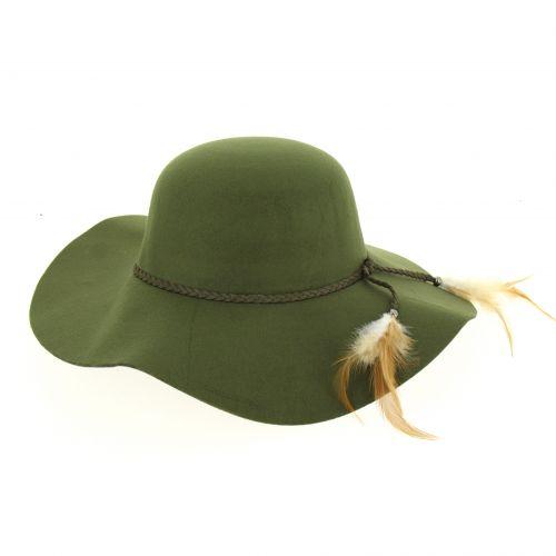 TAFENDA Feathers fedora hat
