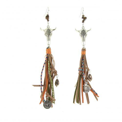 Boucles d'oreilles pendantes Cow Ielena