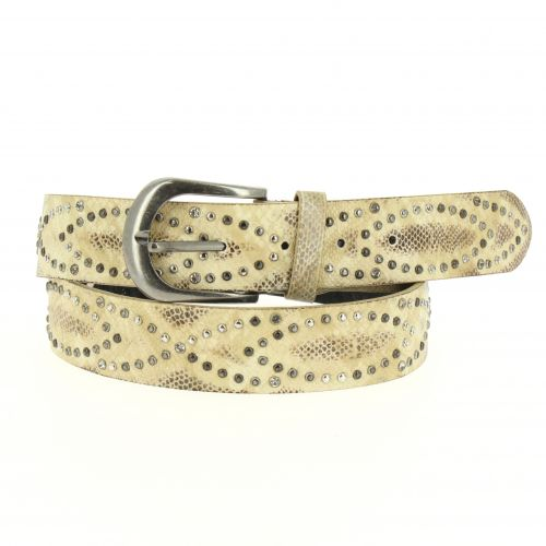 Woman studded leather lined belt, CAPUCINA
