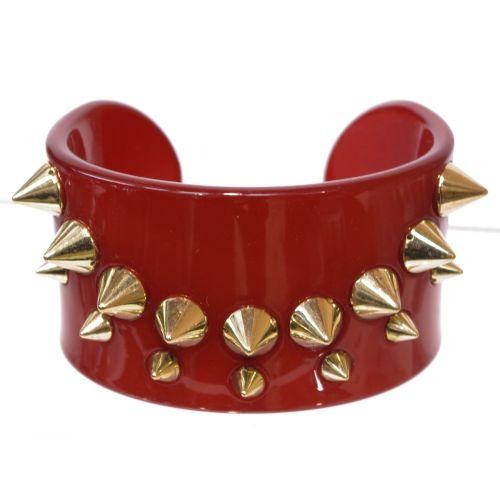 bracelet BOS-2, acrylique clouté de piques Rouge - 1782-4335
