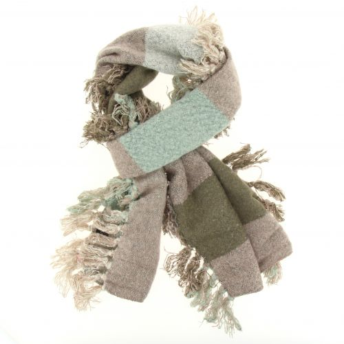 Echarpe laine à pompons Yuna