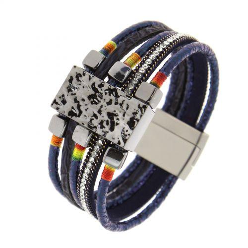 Bracelet manchette Strass Marjoly