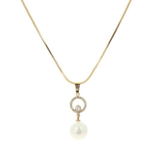 Collier à pendentif perle Pénélope