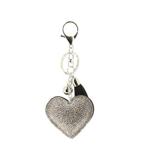 Porte-clefs, bijou de sac coeur Sibylle