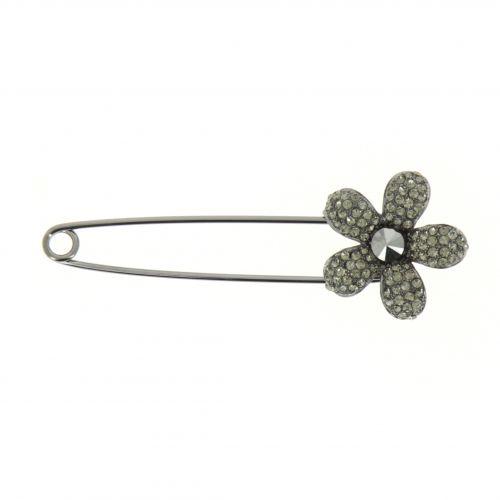Flower rhinestone woman Scarf Brooch Pin, CALIPSO