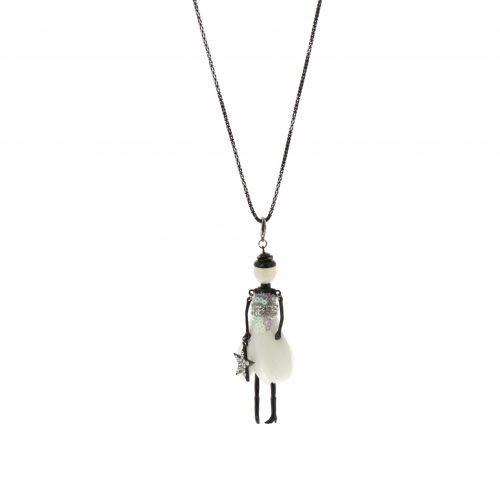 Lange Damen-Halskette mit puppe, VAIREA