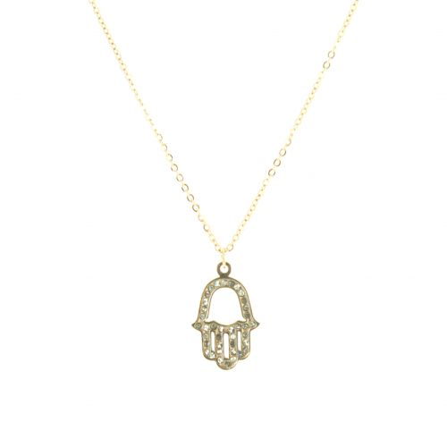 "Collier acier inoxydable ""Main de Fatima"" Ashleen"