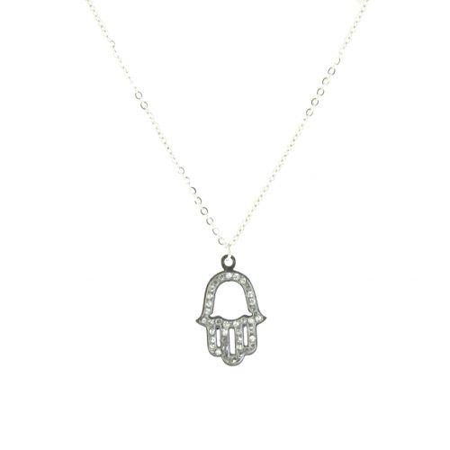 """Edelstahl Halskette """"Hand der Fatima"""" Ashleen"""