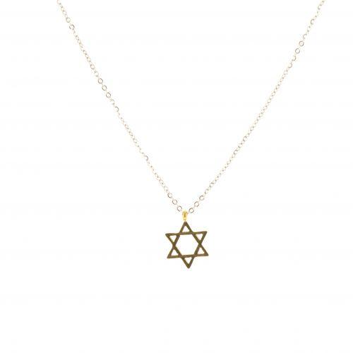 Davidstern Halskette aus rostfreiem Awa
