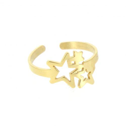 "Bague ""étoile"", acier inoxydable Cayssie"