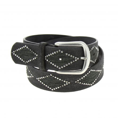 Denim Studded leather belt, KELLYA
