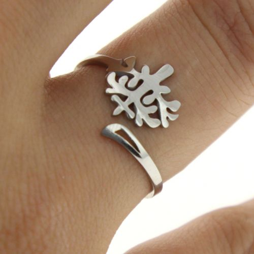 Ring stainless steel tree life candice