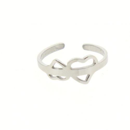 "Ring stainless steel, ""Heart"" JULIA"
