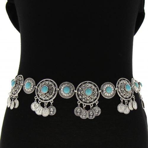 Ceinture femme chaîne pendantes, Taille Réglable, CHARLOTTE