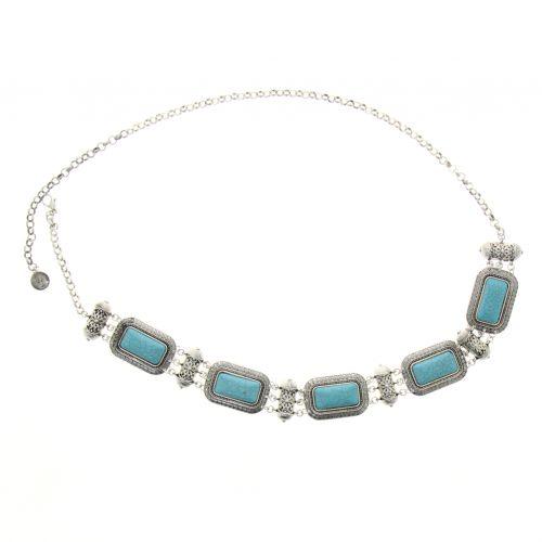 Ceinture chaîne à turquoises pour femme CLAIRE