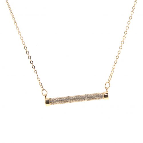 Collier acier inoxydable Strass Mathilde