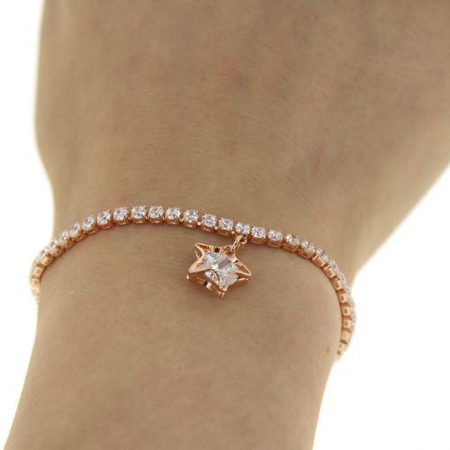 Bracelet adjustable rhinestone VIOLETTE
