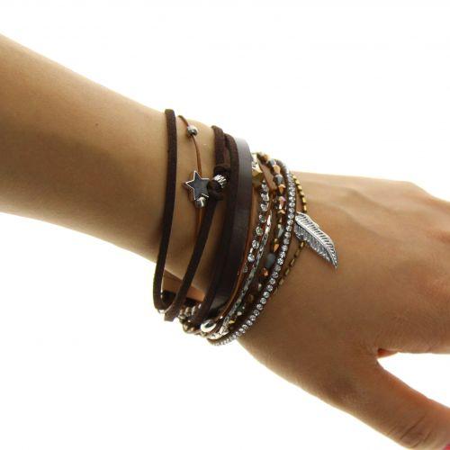 Bracelet manchette, multirangs GALEANE