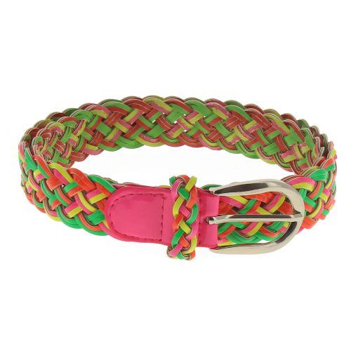 Cinturón de mujer imitación cuero trenzado Ancho 4 cm, ADRIJANA