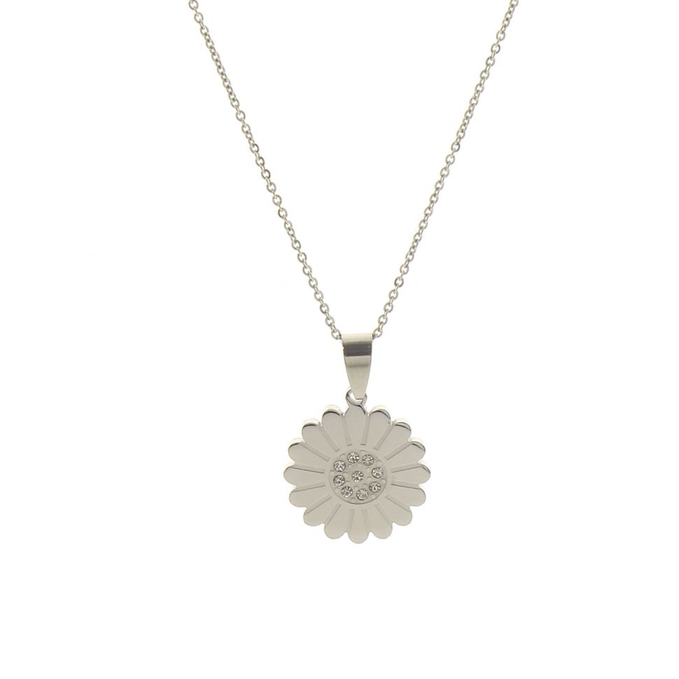 Collier inoxydable tournesol, 4412-8