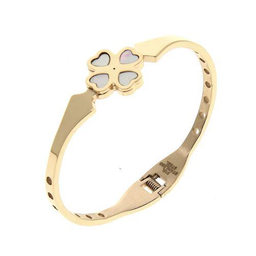 Bracelet inoxydable, Cristal Zirconium Miline